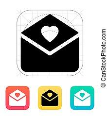 icon., liefde brief