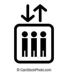 Icon lift. Vector illustration.
