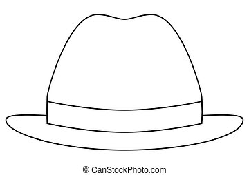 Icon line art poster man father dad day hat cap.