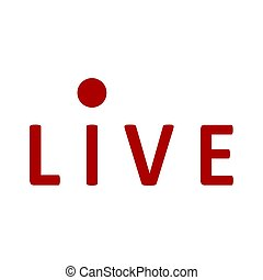 Icon live streaming or broadcasting, on air. Vector live stream