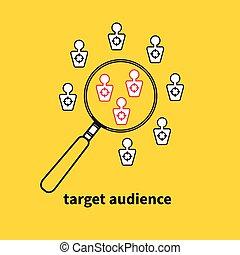 Icon, logo target audience