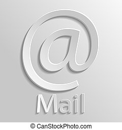 App Icon gray mail with shadow