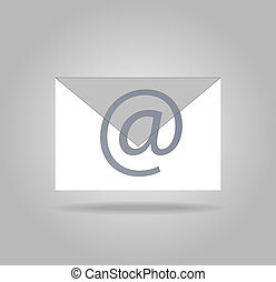 App icon mail letter with shadow