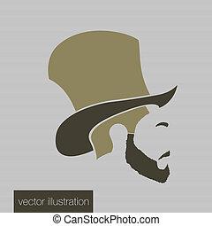 Icon man in a headdress