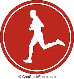 icon man running runner