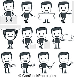 Icon man - Vector illustration of a simple cute characters ...
