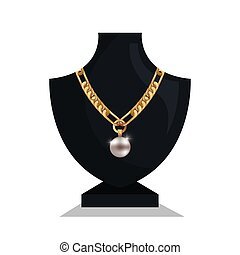 icon mannequins jewelry necklace isolated