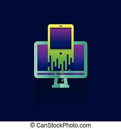 icon marketing Business. idea. illustration isolated sign symbol thin line for web, modern minimalistic flat design vector on blue background. logo. mobile