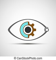 Icon mechanical eye