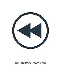 icon media fast rewind back