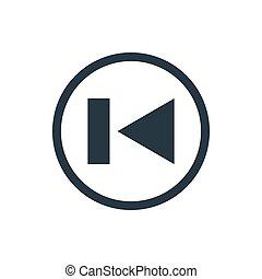 icon media rewind back