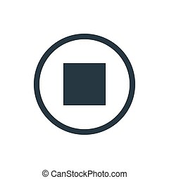 icon media stop