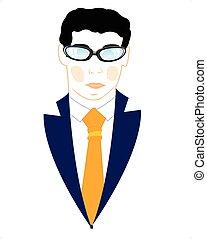 Icon men in suit