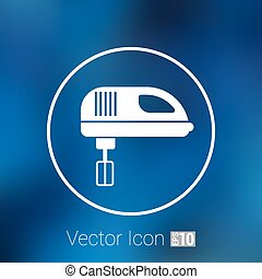 icon mixer electric handmixer hat sign stove .