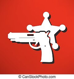 icon., moderne, politie, vrijstaand, illustratie
