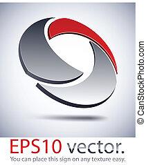 icon., modernos, logotipo, 3d, tecnologia