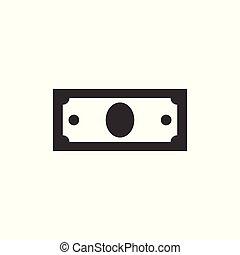 icon money dollar Black. Business. vector illustration on white background