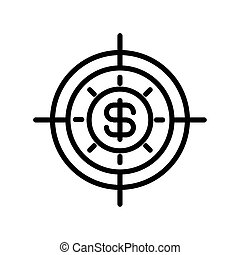 icon money turnover in white background vector illustration ...