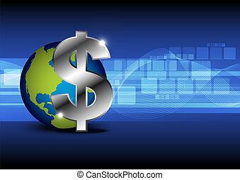 icon money with globe