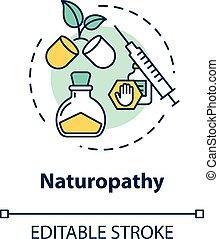 icon., naturopathy, rgb, ベクトル, 自然, 線, editable, 隔離された,...