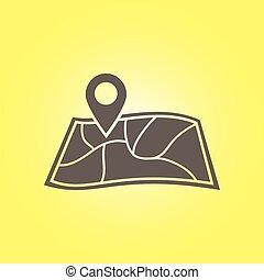 icon., navigation, signe