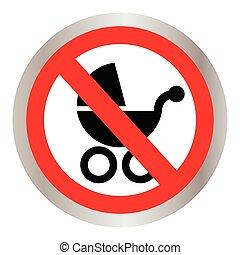 Icon no wheelchair. Vector