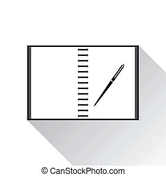 Icon notebook on white background