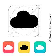 icon., nuvola, calcolare