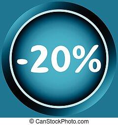 Icon of 20 percent