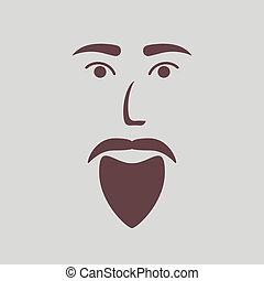 icon of a bearded man