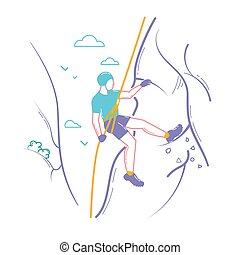 Icon of a climber