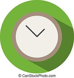 Icon of a clock in flat style. Vector illustration.