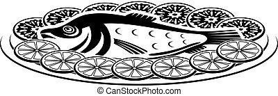 Icon of a fish dish