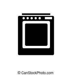 Icon of a gas stove black on a white background.