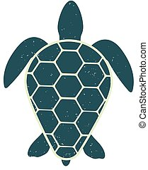 Icon of a great turtle. Vector isolated image. Vintage and modern style.