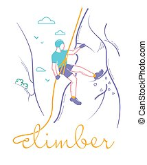 Icon of a man climber