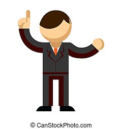 Icon of a man in a suit on a white background. Vector illustration.