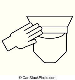 Icon of a saluting serviceman
