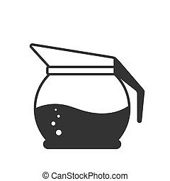 Icon of a teapot or jug. Vector stock illustration. Simple design isolated on white background