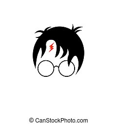 icon of a wizard boy with glasses