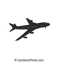 icon of airplane. vector illustration