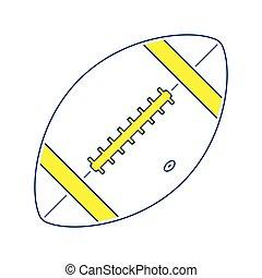 Icon of American football ball
