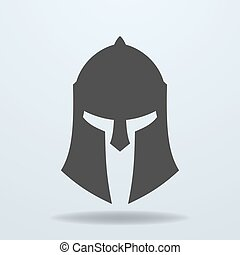 Icon of ancient Greek, Roman, Spartan helmet.