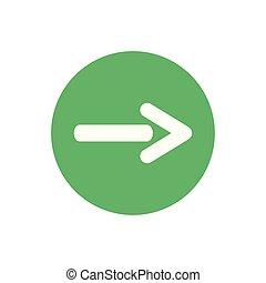 icon of arrow in color circle