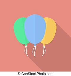 Icon of balloons. Flat style