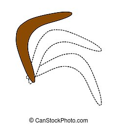 Icon Of Boomerang. Editable Outline With Color Fill Design. Vector Illustration.