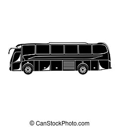 Icon of bus, vector illustration