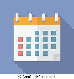 Icon of Calendar. Flat style.