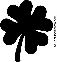Icon of clover with four-leaves