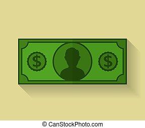 Icon of Dollar. Flat style